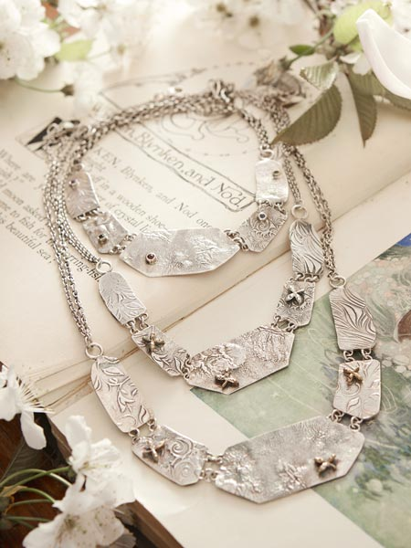 Silver Necklace Jewellery, Handmade by Dee Ayles